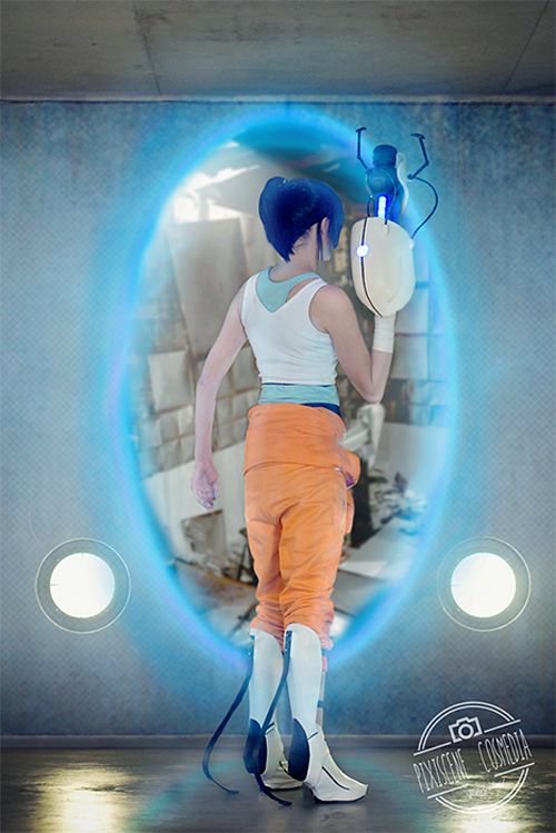 Chell From Portal 2 Cosplay