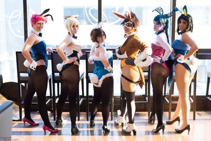 Bnha Girls Wallpaper Overwatch Bunnysuits Group Cosplay