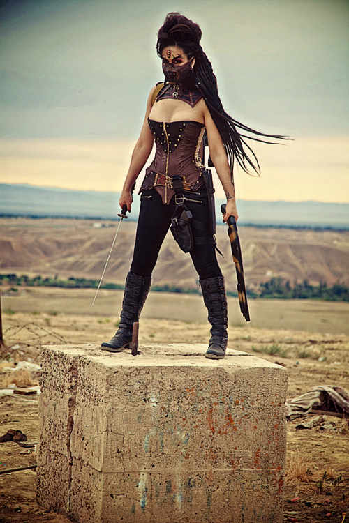 Two Girls Wallpaper Mad Max Inspired Cosplay