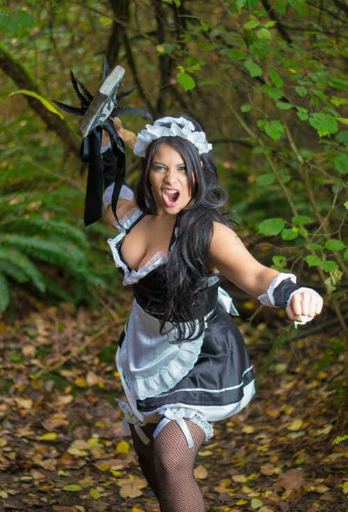 American Flag Wallpaper Hd French Maid Nidalee Cosplay