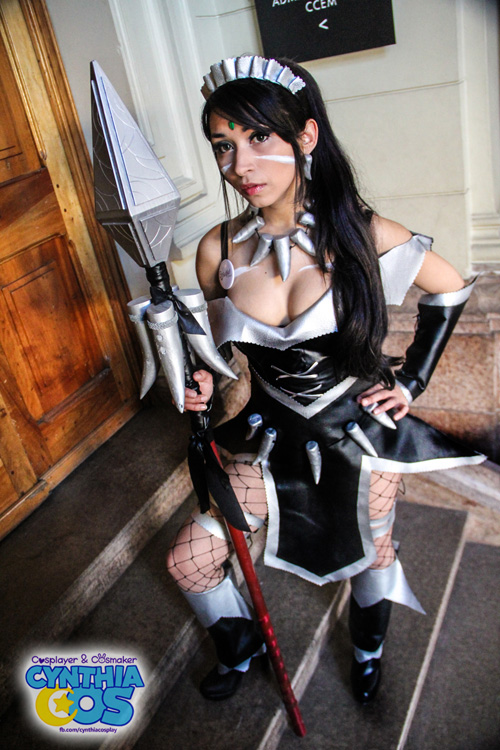 Wallpaper Geek Girl French Maid Nidalee From League Of Legends Cosplay