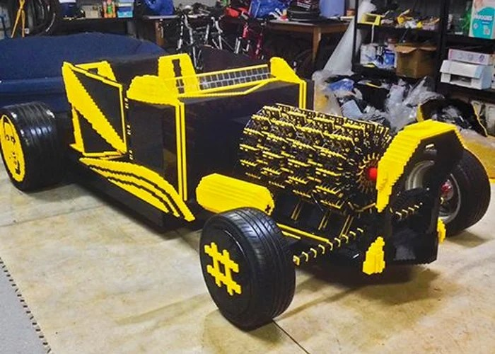 Lifesize Lego Car That Can Actually Be Driven (video