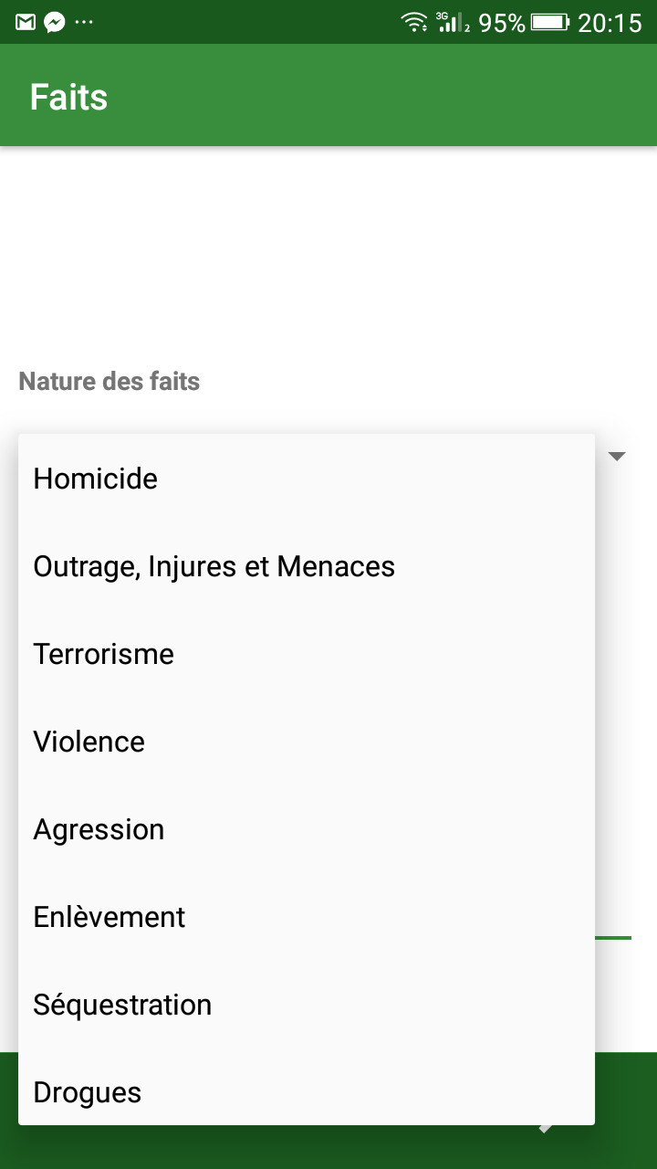 gendarmerie algérie application