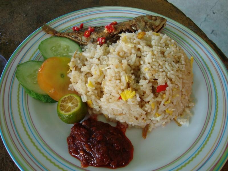 Nasi goreng ikan masin  geekbimbo  geembo