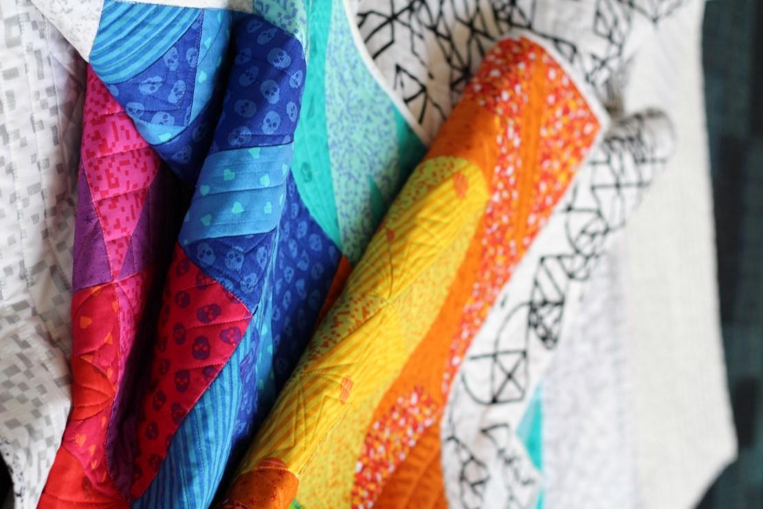 retro tetro quilt by geeky bobbin fabrics by libs elliott