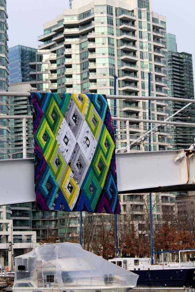 vortex quilt - modern geometric quilt pattern by geeky bobbin