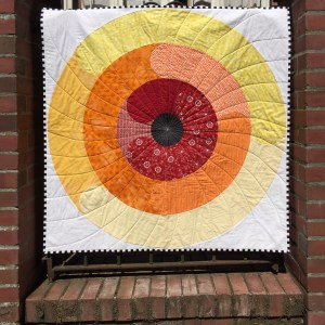 Orbital quilt pattern by geeky bobbin. quilt made by Carolyn Jackson