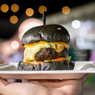 Savour 2015: Spathe Public House—Hawaiian, Chilli, Cheese Melt Beef Burger.