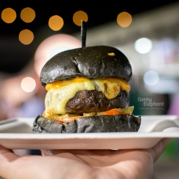 Savour 2015: Spathe Public House—Hawaiian, Chilli, Cheese Melt Beef Burger.