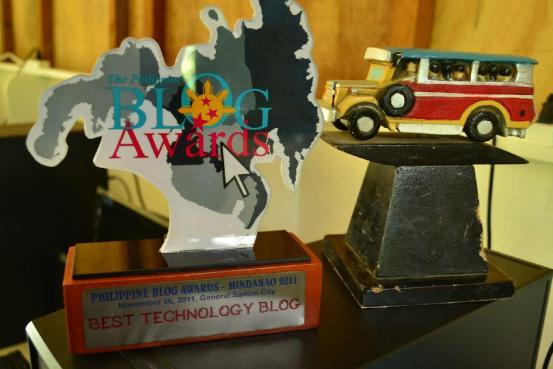 Philippine Blog Awards 2010 and 2011 Trophies - 1