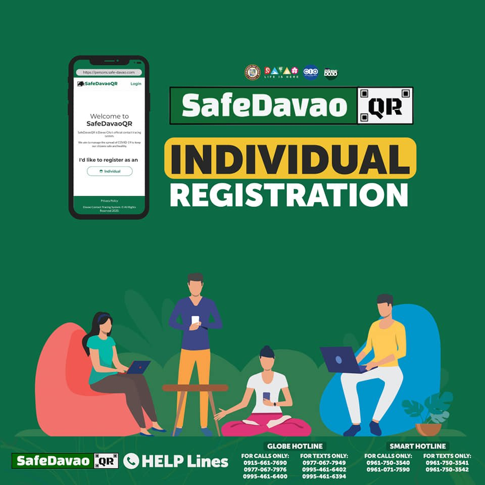 Safe Davao QR - DQR Individual registration