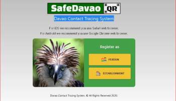 Safe Davao QR Contact Tracing