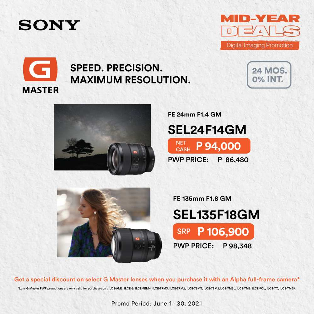Sony Mid-Year Deals - Select Lenses