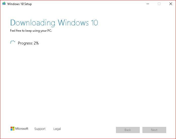 Download Windows 10 Progress