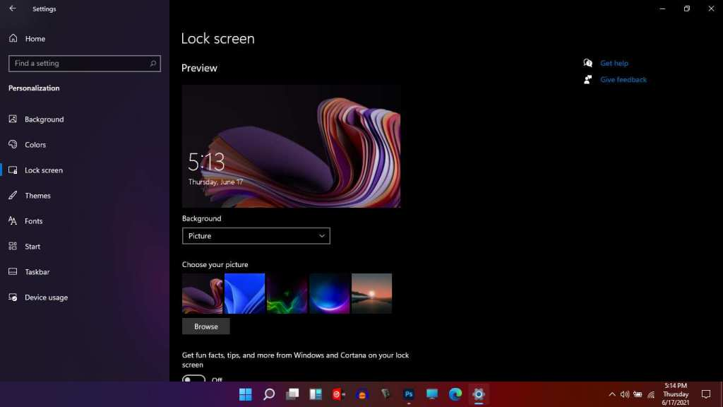 Windows 11 Personalization Lock Screen Settings