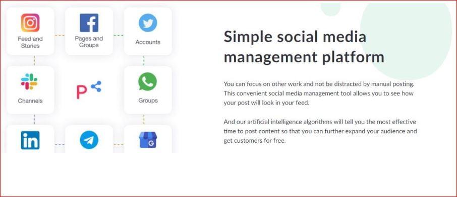 Simple social media management platform