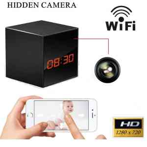 ProElite WL01 Wifi Enabled Clock With Hidden Camera & SD card Slot