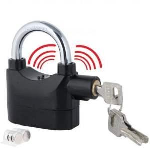VelVeeta Anti Theft Burglar Pad Lock Alarm Security Siren