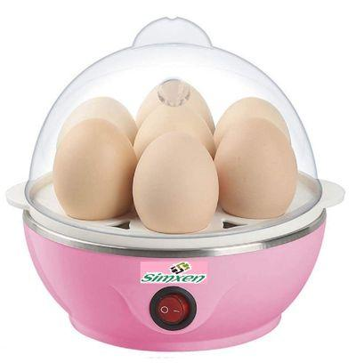 Electric Egg Boiler Automatic Off 7 Egg Poacher for Steaming, Cooking, Boiling and Frying