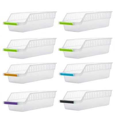 Fridge Space Saver Food Storage Organizer Basket Rack - Multipurpose Storage rack Trays