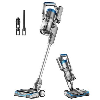 Eureka Stylus Lightweight Cordless Vacuum Cleaner, 350W Powerful BLDC Motor for Multi-Flooring Deep Clean LED Headlights, Convenient Stick and Handheld Vac