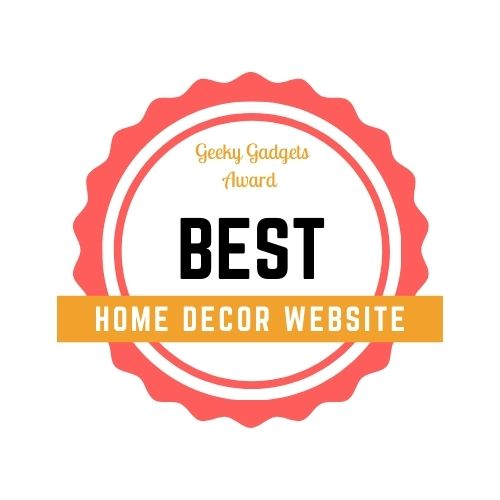 Best home decor website in India Award by Geeky Gadgets