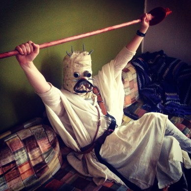 Fiancée cosplaying as Sandpeople from Star Wars