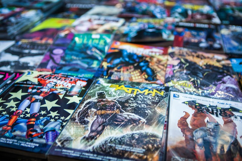 Batman comics at Comic Con Malmö 2015