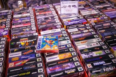 N64 games at Comic Con Malmö 2015