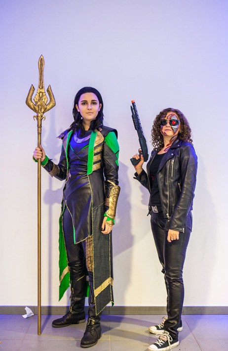 Loki & Terminator cosplay at Comic Con Malmö 2015
