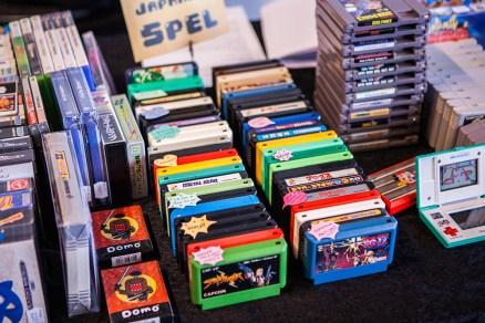 Famicom games at Retrospelsfestivalen 2015