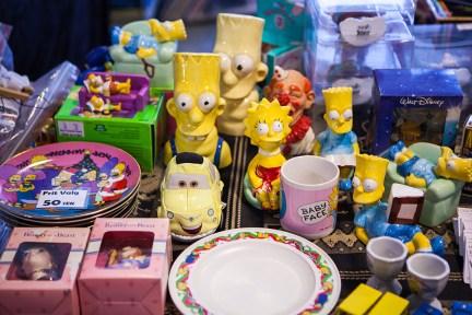 Simpsons merch at Sci-Fi World