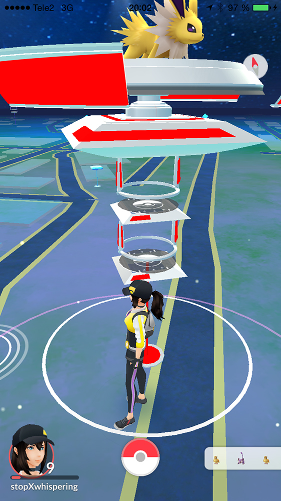 My gym! For a brief moment.. - Pokémon Go