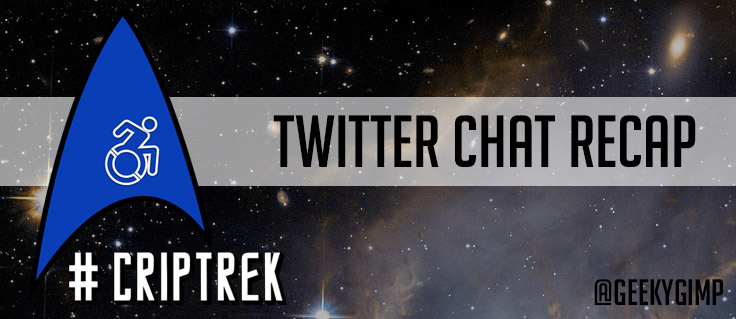#CripTrek Twitter Chat Recap over a starry background