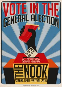 Nook Brewhouse General Alection Poster A3 03