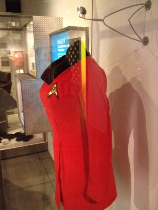 Yes, Nichelle Nichols actually wore this dress while playing Uhura in Star Trek: The original series.