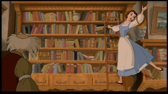 If you grew up around the time I did, and love books like I do, how could you not dream of ladders for your bookshelf?