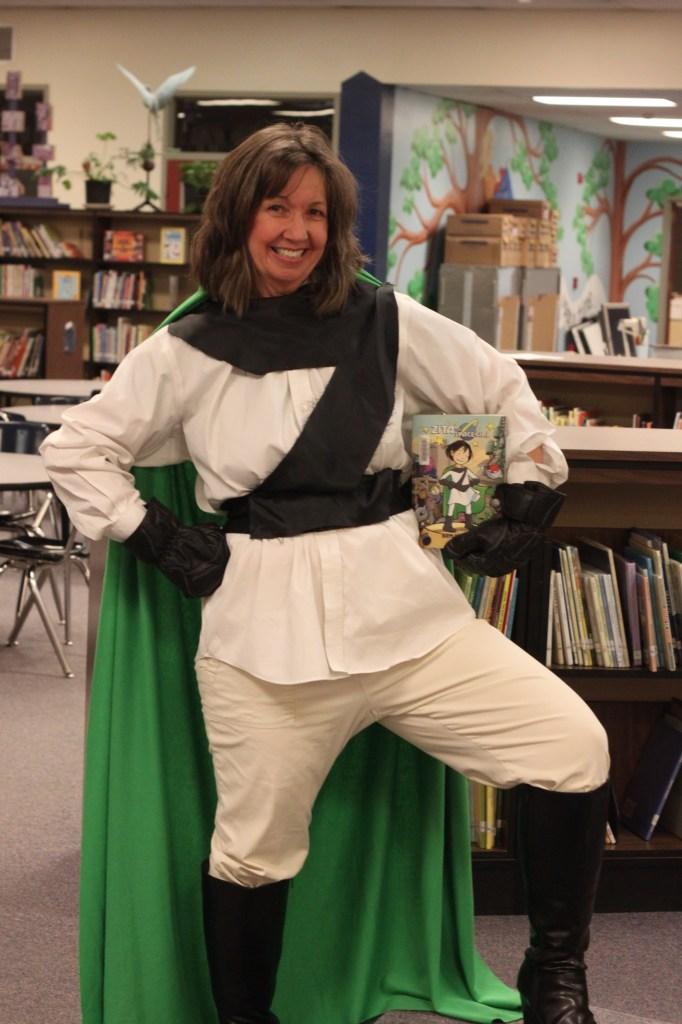 Zita the Spacegirl costume with book