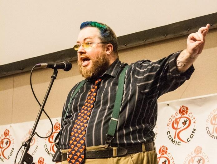 Doc Luben, winner of the Saturday's Geek Poetry Slam