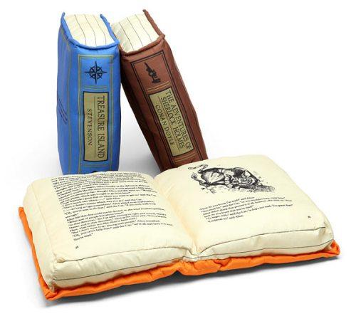 Book Pillows! ($18, ThinkGeek)