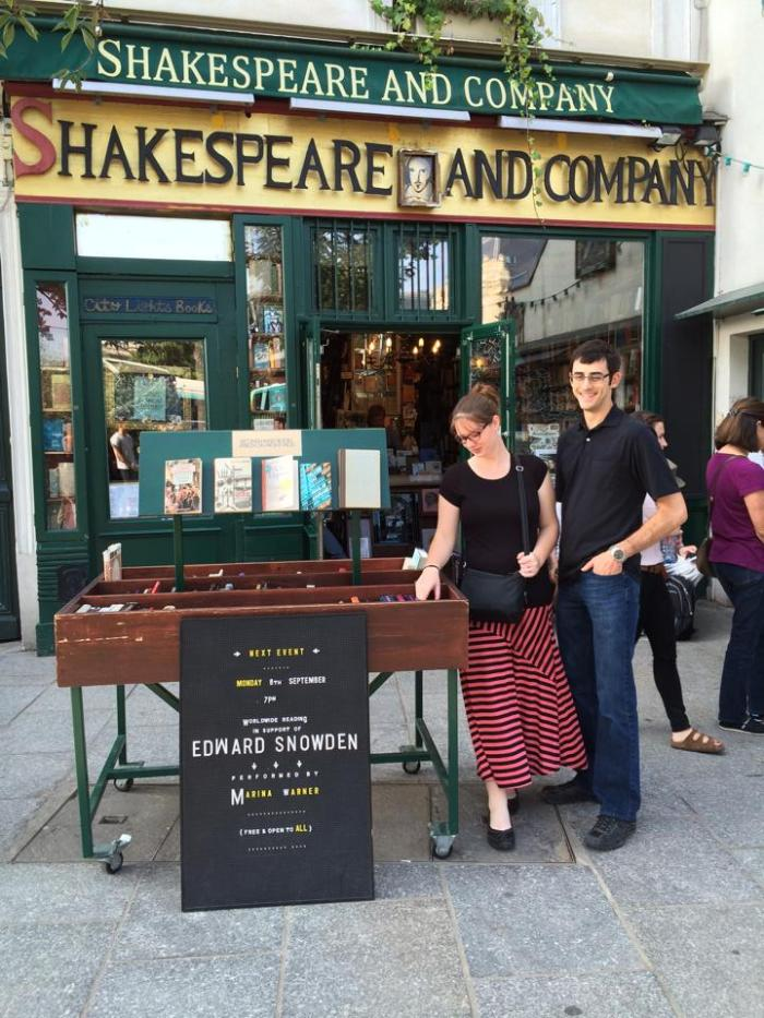 Kallen at Shakespeare and Company