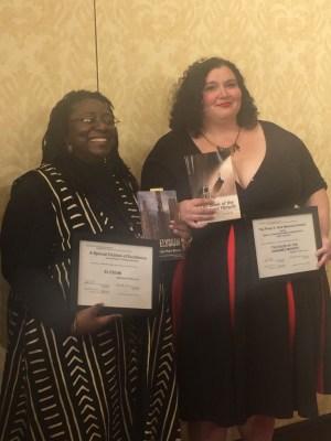 Jennifer Marie Brisset and Meg Elison (Philip K. Dick Awards at Norwescon)