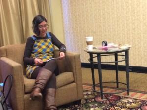 Susan DeFreitas reading at Norwescon