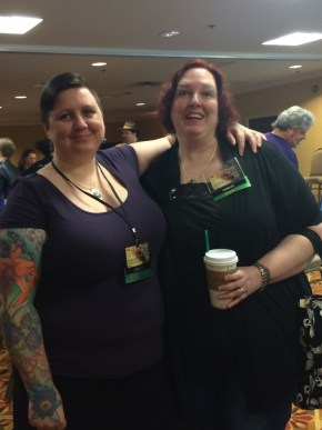 Jennifer Brozek and Annie Bellet at Norwescon
