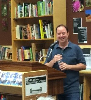 scalzi at author event