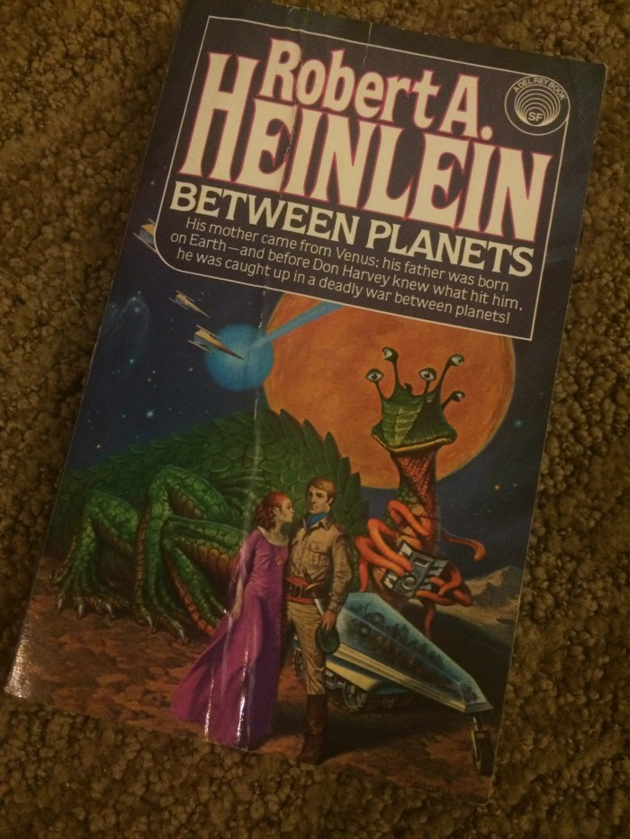 Heinlein is a legendary science fiction author, but this cover is ridiculous. I pulled this one off my shelf for the #WeirdCoverHunt readathon mini-challenge.