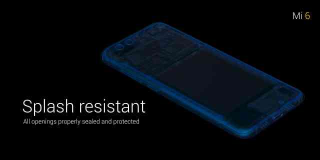 Xiaomi Mi 6 Splash resistant