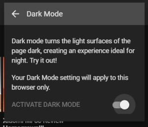 YouTube's Secret Dark Mode
