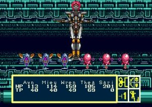 Phantasy Star III Generations of Doom Combat