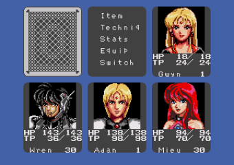 Phantasy Star III Generations of Doom Character Portraits